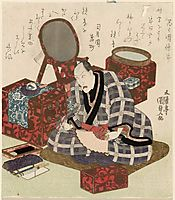 Ichikawa Danjuro VII in His Dressing Room, c.1827, kunisada