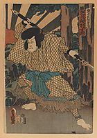 The Kabuki Actor Kawaharazaki Gonjuro as Kagekiyo, kunisada
