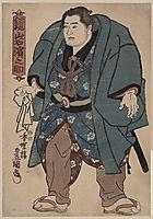Kagamiiwa Hamanosuke, sumo wrestler, kunisada