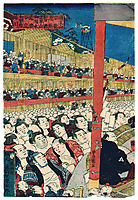 Sumo Spectators, 1853, kunisada