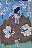 The famous Kabuki actor Takeda Harunobu (Takeda Shingen). From the series Gishi Eimei-den no Uchi, kunisadaii