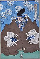 The famous Kabuki actor Takeda Harunobu (Takeda Shingen). From the series Gishi Eimei-den no Uchi, kunisadaii