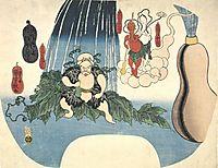 Animated Gourd, c.1841, kuniyoshi