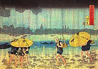 At the shore of the Sumida river, kuniyoshi