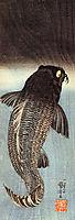 Black carp, kuniyoshi