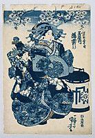 The Courtesans Usugomo, Haruka, and Yayoi of the Tamaya Teahouse, kuniyoshi