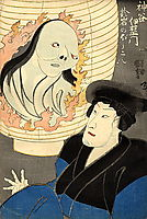 The Ghost in the Lantern, kuniyoshi