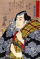 Half-legth portrait of Bazui Chobel, kuniyoshi