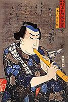 Half-legth portrait of Goshaku Somegoro, kuniyoshi