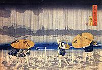 Heavy rain, kuniyoshi