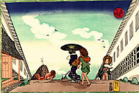 High Noon at Kasumigaseki, 1830, kuniyoshi
