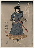 Kuroda Ukinaga, Japanese actor, 1816, kuniyoshi