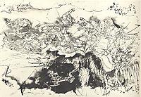 Nichiren saved from the executioners sword, kuniyoshi