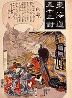 Okabe - The cat witch, kuniyoshi