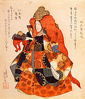 One of the daughters of the dragon king who lives in the bottom of the sea, kuniyoshi