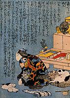 Self-portrait of the Shunga album, kuniyoshi