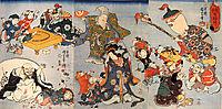 The seven gods of good fortune, kuniyoshi