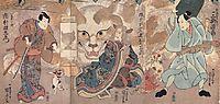A shapeshifting cat, kuniyoshi
