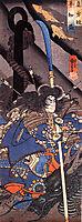 Taira Tomomori and a sea dragon, kuniyoshi