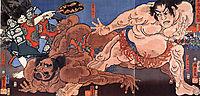 Wrestling, kuniyoshi