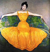 Lady in Yellow Dress, 1899, kurzweil