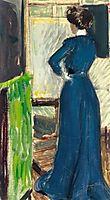 Martha Kurzweil before an easel, 1902, kurzweil