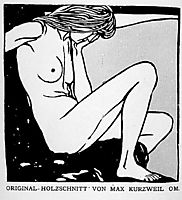 Seated nude facing right and meditating, c.1902, kurzweil