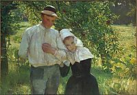 A walk in the garden, 1896, kurzweil