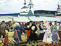 At The Fair, 1906, kustodiev