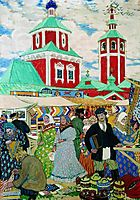 At The Fair, 1910, kustodiev