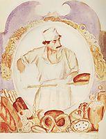 Baker, 1918, kustodiev