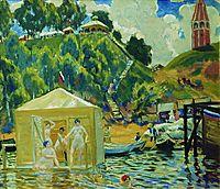 Bathing, 1912, kustodiev