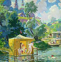 Bathing, 1921, kustodiev