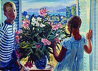 Children of the artist, 1913, kustodiev