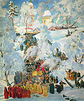 The Consecration of Water on the Theophany, 1915, kustodiev