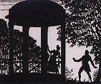 Date of Vladimir and Masha in the garden, 1919, kustodiev