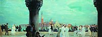 Embankment of Venice, 1918, kustodiev