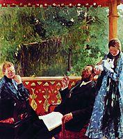 Family portrait of Polenovs (Family Portrait), 1905, kustodiev