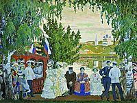 Festive Gathering , 1910, kustodiev