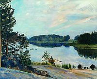Forest Lake in the Konkol, 1917, kustodiev