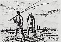 From Fishing, 1923, kustodiev