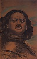 The head of Peter the Great, 1910, kustodiev