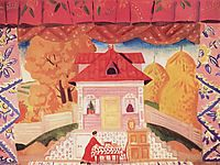 The hut of Savely Magar, 1925, kustodiev