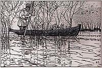 Illustration for Nikolay Nekrasov poem , 1908, kustodiev