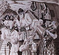 Illustration for Nikolay Nekrasov poem , 1921, kustodiev