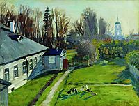 In the estate of a collector Schwartz, Uspenskoe in the Staraya Ladoga, 1908, kustodiev