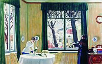 In the Room. Winter , 1915, kustodiev