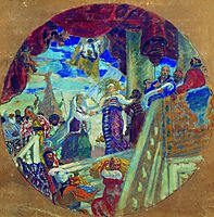 Joining Kazan to Russia. Allegory, 1913, kustodiev