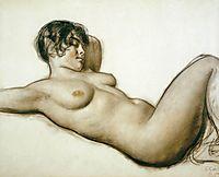 Lying Nude, 1915, kustodiev