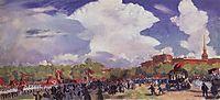 May Day parade. Petrograd. Mars Field, 1920, kustodiev
